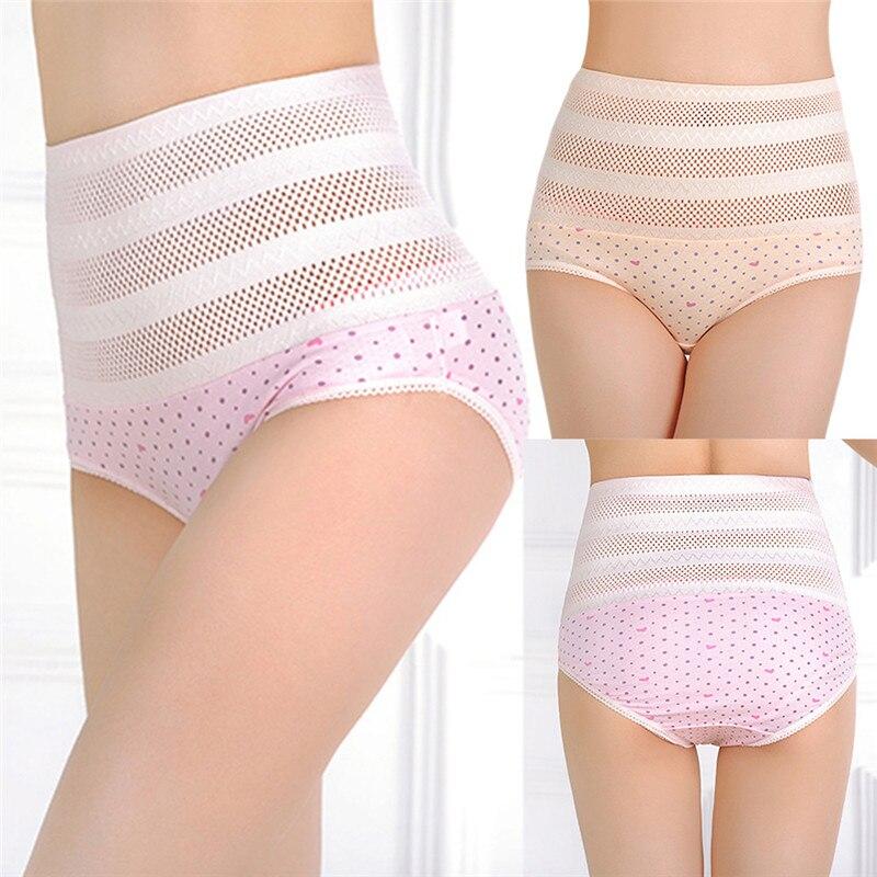 1pswomen's wysokiej talii majtki brzucha po porodzie matki bliscy underwear kontrola brzucha body shaper figi l-xxl nago/różowy 15