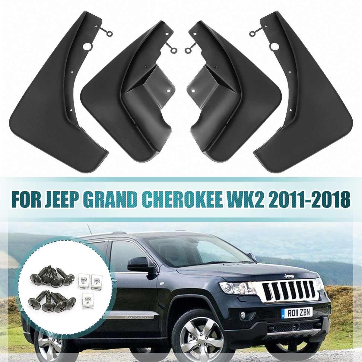 Black ABS Plastics Mud Flaps Splash Guard Trim For Jeep Cherokee 2016 2017 2018
