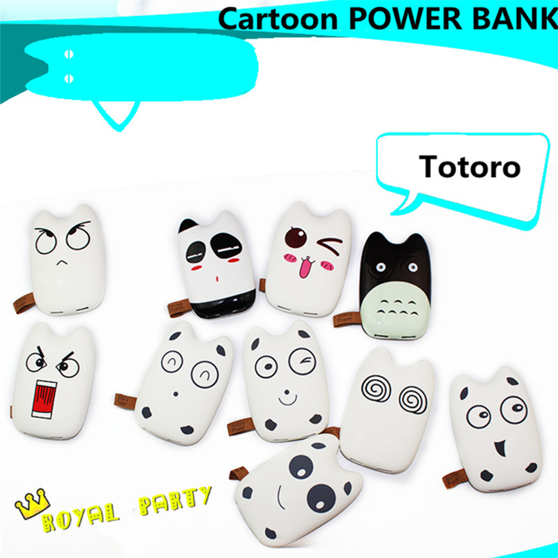 Mobile Power Bank 6800mah Cartoon portable charger external Battery 6800 mah mobile phone charger Backup powers for all phone