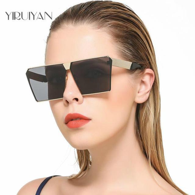 f54fb9aee4f 2017 New Color Women Sunglasses Unique Oversize Shield UV400 Gradient  Vintage eyeglasses frames for Women Sun