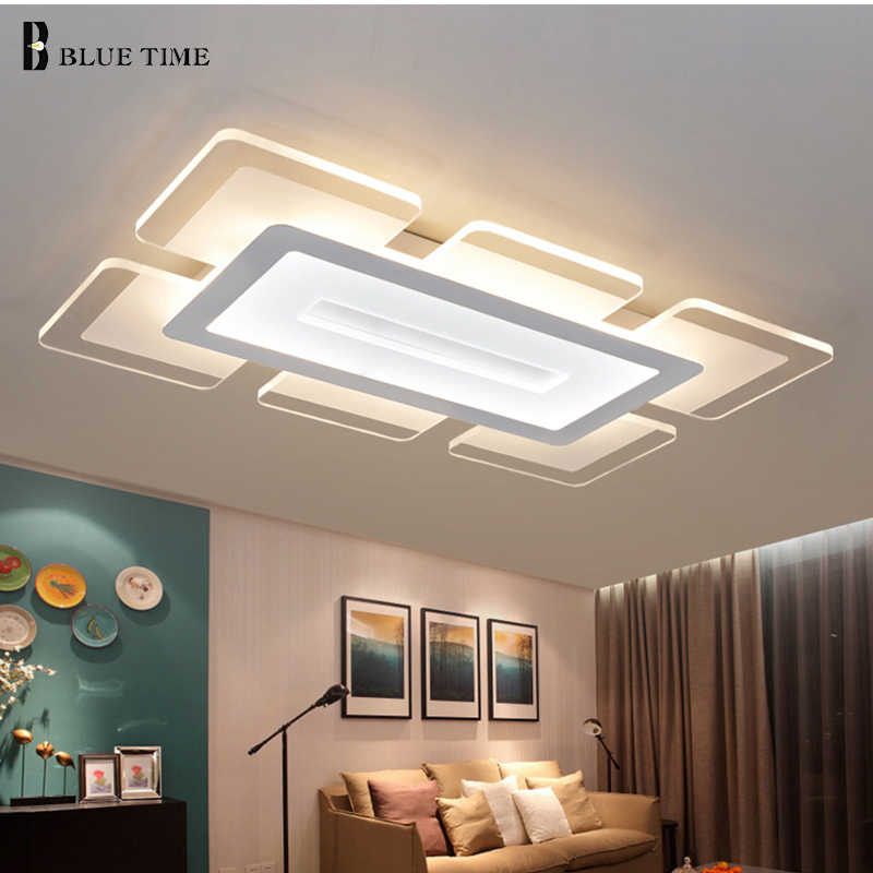 Modern led chandeliers for living room restaurant kitchen for Plafones pared amazon