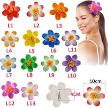 2 pcs/lot 10cm 2019 Fashion girls women Foam Hawaiian Hibiscus flower hair clips for Barrettes bridal