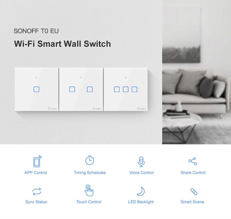 HTB13KIGXuT2gK0jSZFvq6xnFXXag - SONOFF T0 TX Smart WiFi Smart Switches with 2/1 Gangs Wifi Switch for Google Home Alexa Compatible Smart Home System EU&UK&US
