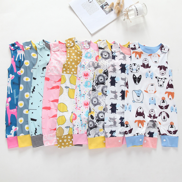 2019 New Baby Newborn Kids Toddler Boys Girls Clothes Sleeveless Short and Long Romper Floral Elephant Jumpsuit Playsuit Sunsuit 5