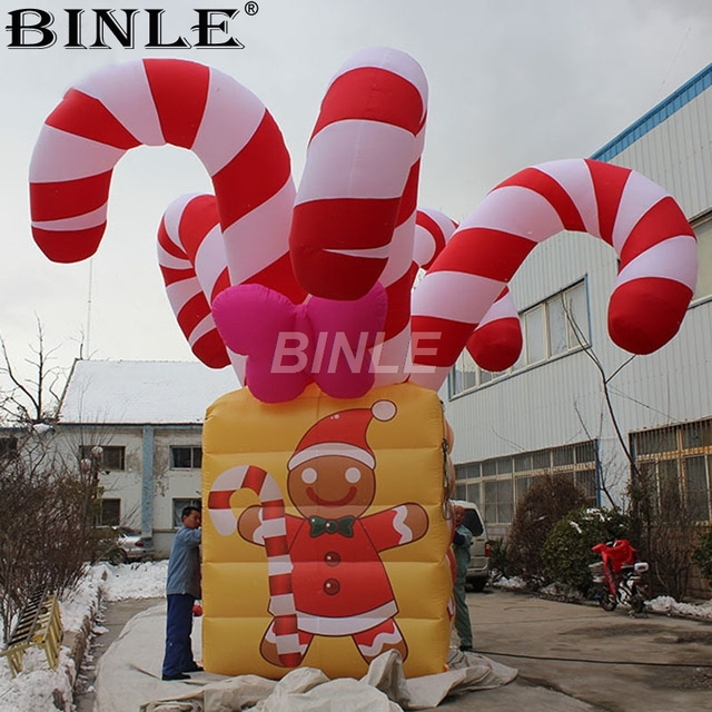 6m 20ft Large Christmas Inflatables Ornaments Giant Candy Canes