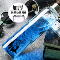 High Quality Cartoon Style High Boron Silicon Double Wall Glass High Temperature Resistance Water Coffee Tea