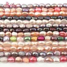"4-6x5-8mm Freeform Freshwater Pearl Natural Stone Beads For Necklace Bracelet Jewelry Making Spacer Strand 14"" Free Shipping(China)"