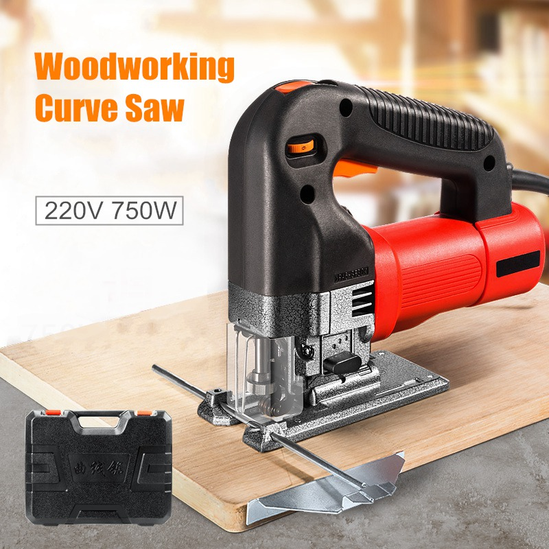 цена на New 220V 750W Electric Jig Saw Woodworking Power Tools Multifunction Chainsaw Hand Saws Cutting Machine Wood Saw Hand Tool