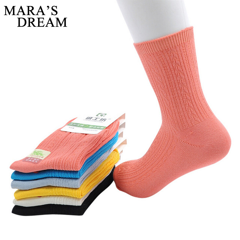 6pairs/lot Women   Socks   All Seasons Spring Summer Autumn Winter Bamboo Fiber Women Short   Socks   Candy Color Cute Girls   Socks   Meias
