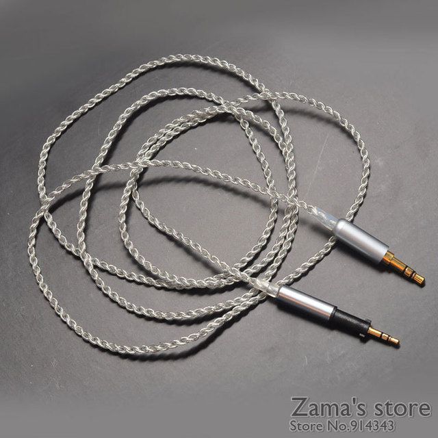Silver plated 2.5MM to 3.5MM Upgrade Replacement Audio cable ...