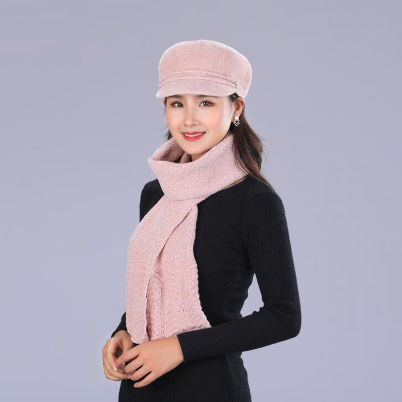 Middle Age Caps Men's Skullies & Beanies Reasonable Bing Yuan Hao Xuan Flower Knitted Hat Female Solid Color Scarf And Hats Womens Winter Thick Warm Beanies Ms