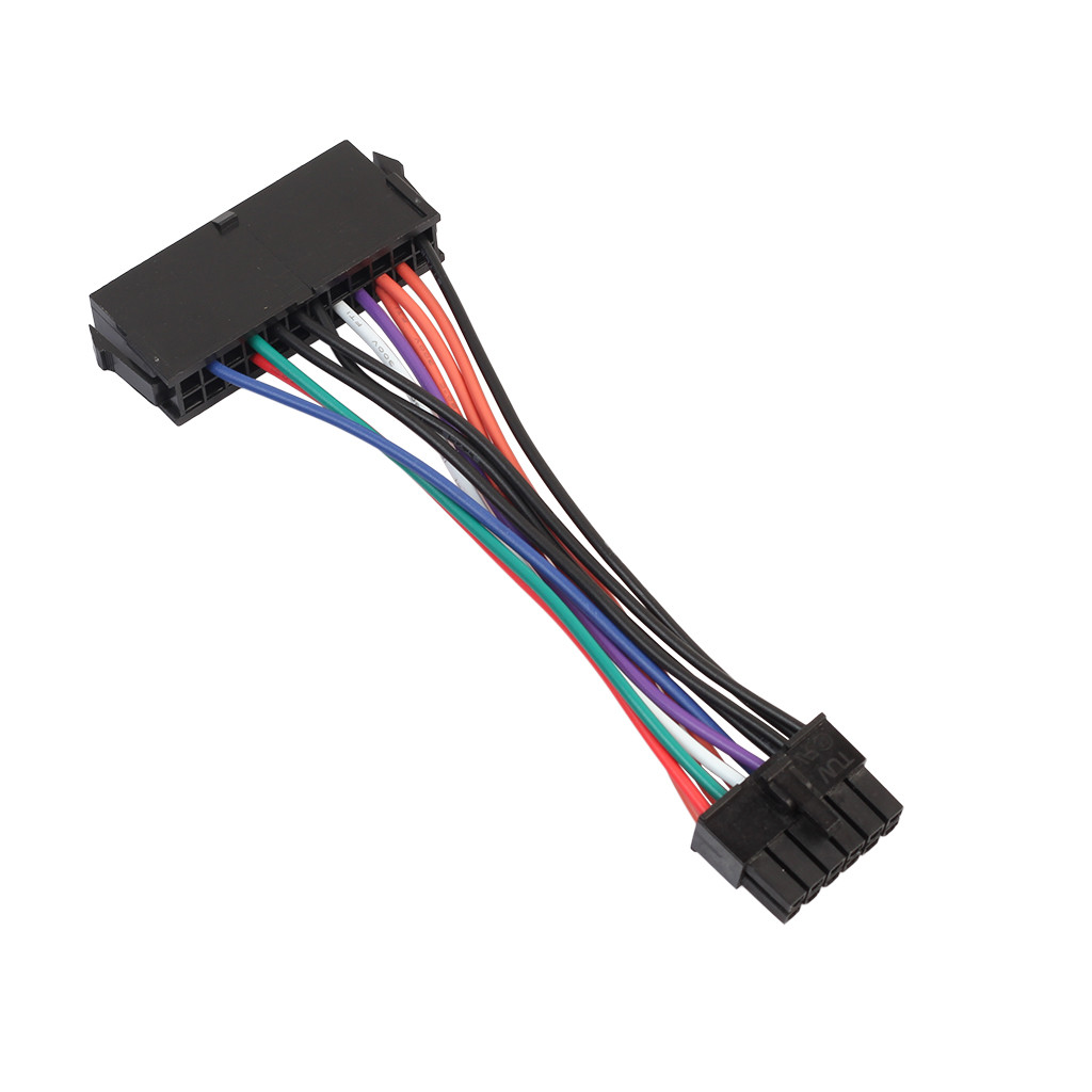 Image 5 - 15cm ATX 24 Pin to 12 Pin Power Supply Cable 24p to 12p Cord For Acer Q87H3 AM power cable Drop Shipping l1206#2-in Computer Cables & Connectors from Computer & Office