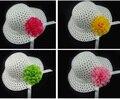 5 unids/lote para niños chicas Summer hat. flor de panamá sombrero de sol. niñas sombrero del cubo. 5-10t. Mix 5 colores