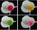 5pcs/lot  Kids Girls Summer Hat. Flower Panamanian Sun Hat. Girls Bucket Hat. 5-10T. Mix 5 colors