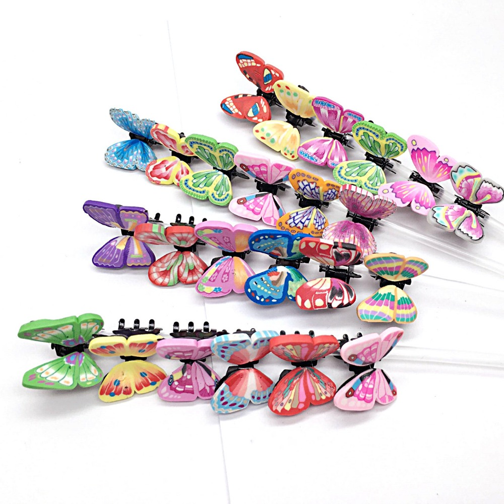6pcs/set Polymer clay butterfly hairpin crab Claw Clip Handmade Simulation Butterfly Hair jewelry Decoration Children ornaments halloween party zombie skull skeleton hand bone claw hairpin punk hair clip for women girl hair accessories headwear 1 pcs