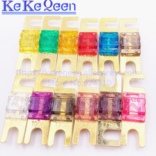 цена на 5PCS ANS FUSE 20A 30A 40A 50A 60A 70A 80A 100A 125A 150A 175A 200A ANL Gold Plated Stud Car Fuses Mini Car Stereo Audio AFS Fuse