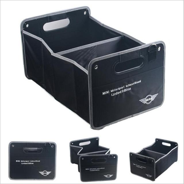 Caixa de armazenamento mala do carro dobrável grande capacidade do veículo para bmw mini cooper compatriota R50 R52 R53 R55 R56 R57 R58 R59 R60 R61 R62