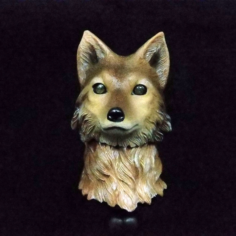 For Collection 1 6 Animal Head Sculpt Wolf head Model Collection Wolf Figure model for 12