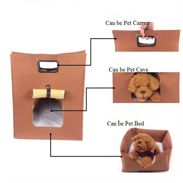 Transport bed cave house folding portable high quality cat dog small pet under 5kg