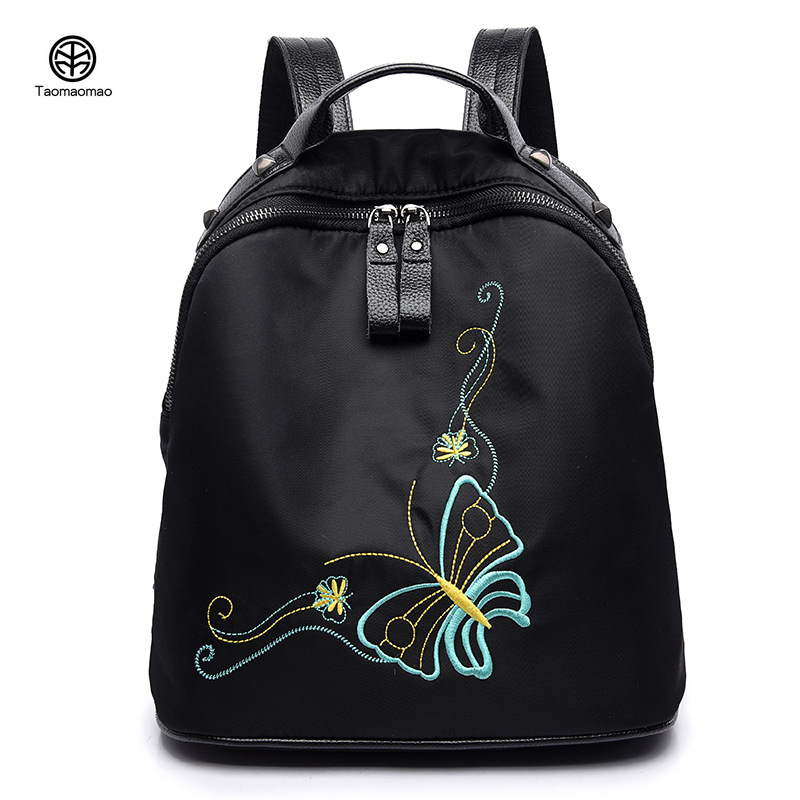 цены Women backpack Han edition street fashion ladies leisure  Embroidery Waterproof backpacks softback nylon Oxford cloth bag