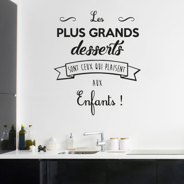 Vinyl Sticker Quotes Cuisine Les Plus Grands Desserts Wall Decal For