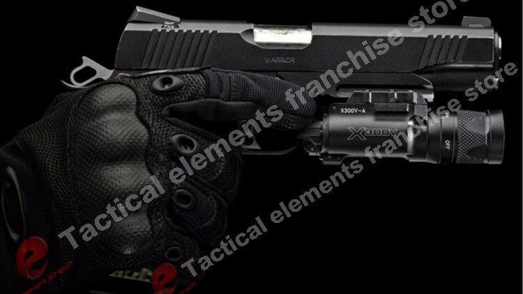 arma estroboscópica pistola glock luz ex381