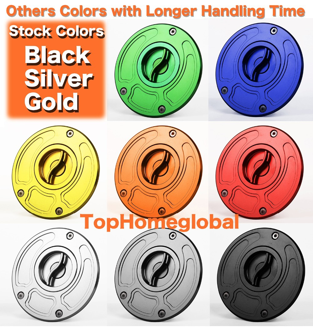 Honda Gold Push Button Billet Gas Fuel Petro Cap Lid CBR 1000RR Fireblade 600RR