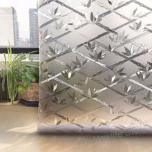3D Bamboo Film on the Window glass Sticker Tinted no-glue Privacy Frosted balcony Waterproof Home Decor 45/60/90*200cm
