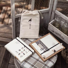 Cute cat Animal Scenery Dotted school office Notebook New Cloth bag Journal Diary Agenda Planner Blank line grid Gift Notepad