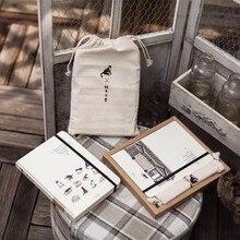 Gato bonito cenário animal pontilhado escola escritório notebook novo saco de pano diário agenda planejador linha em branco grade presente bloco de notas