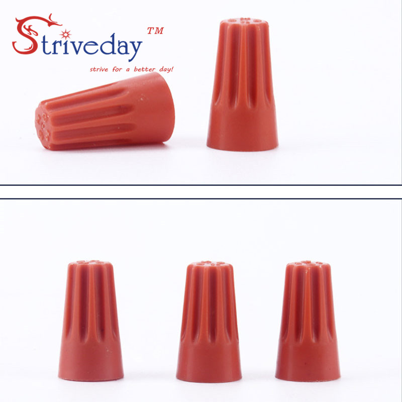 100pcs/lot P1 Splice Wire Twist Nut Connector Terminals Cap Spring ...