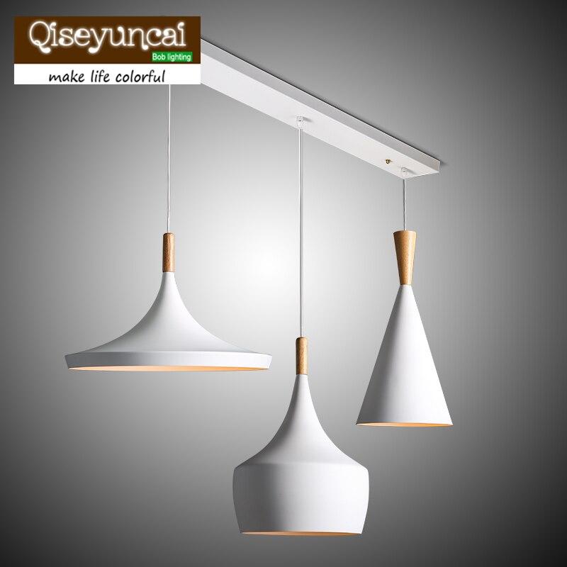 ФОТО 2017 new Modern minimalist Aluminum Wood Art Chandelier bar cafe restaurant decoration lamp 3PCS/PACK