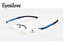 Eyesilove fashion TR90 acetate rimless optical frames eyeglasses frames for men women prescription myopia or reading glasses