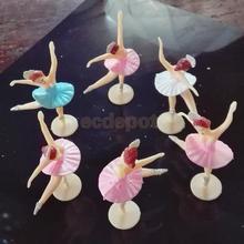 MagiDeal/12 шт.; маленькие балерины; мини-балетные костюмы для девочек; подарок на день рождения ребенка; вечерние украшения на крестины