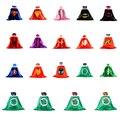 50 conjuntos 1 cabo + 1 máscara dhl crianças cosplay superhero capes traje chrismas hero capa do bebê das meninas dos meninos presente de aniversário superman batman partido