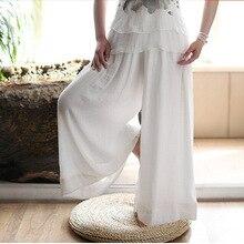 blanco chino pantalón Mujer