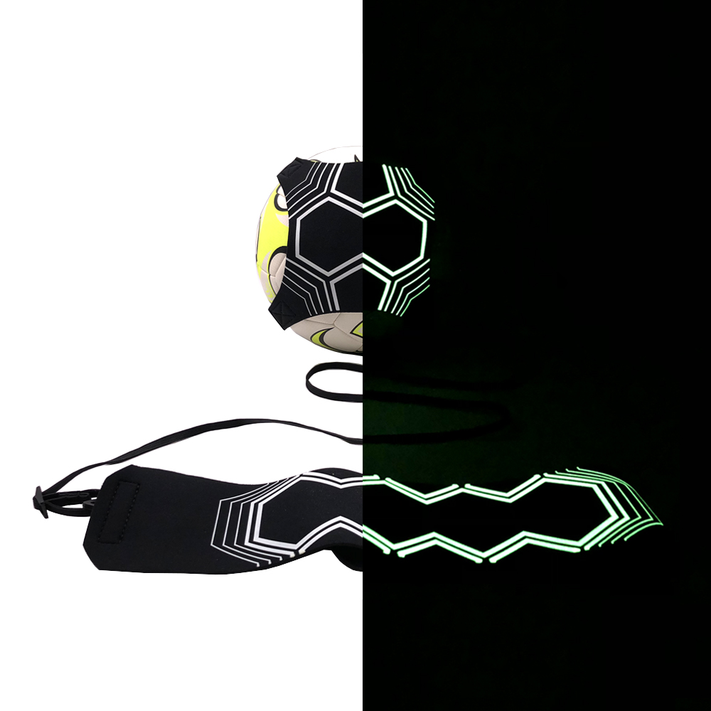 Football Trainer Luminous Fluorescent Night Self-adhesive Adjustable Soccer Trainer Practice Belt Soccer Ball Juggle Bags