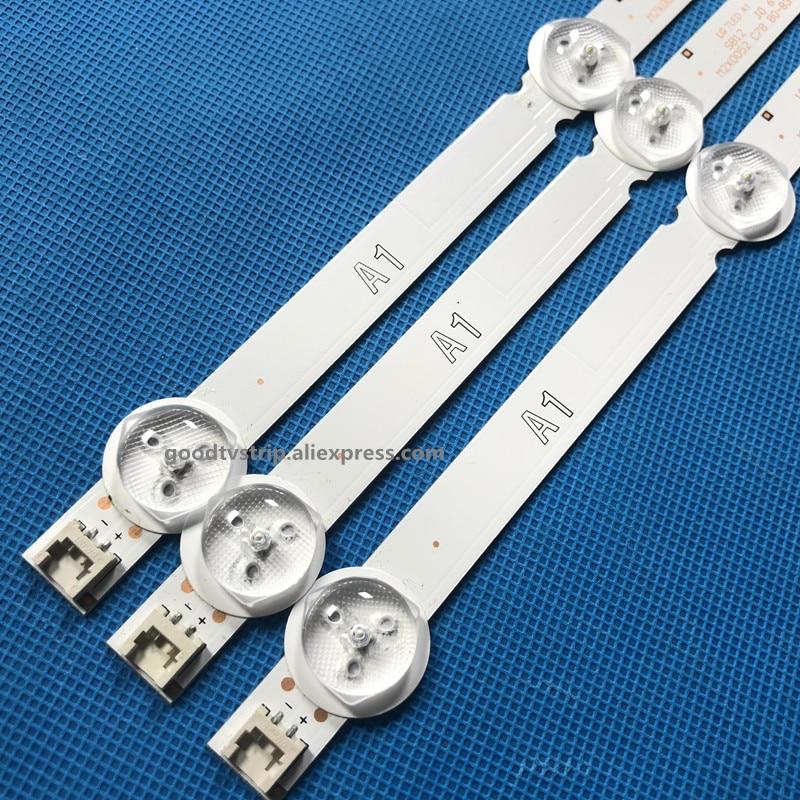 3pcs LED Strip 7led For LG 32LN575S 32LN570R 32LN540S 32LN5408 32LN613V LC320DXE