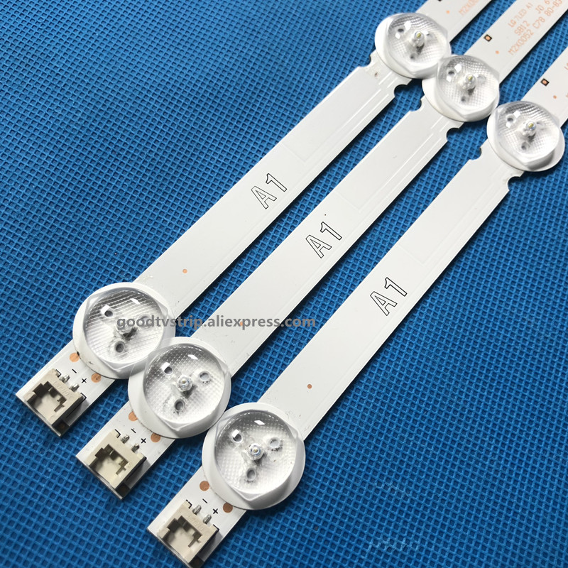 3pcs <font><b>LED</b></font> strip 7led for <font><b>LG</b></font> 32LN575S 32LN540S 32LN5408 32LN613V LC320DXE image
