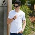 Pioneer camp 2017 de moda de nova camisa dos homens t de algodão elástica respirável t-shirt dos homens branco fino de impressão de manga curta camisetas masculino