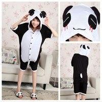 Wholesale Summer Animal Onesies Cartoon Unisex Adult Red Tears Panda Onesie Cosplay Costume Cotton Sleepwear Pajamas Sets