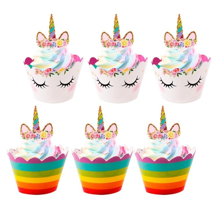FENGRISE Cute Unicorn Cake Topper Pink Unicorn Balloon Boy Girl ...