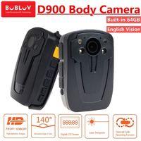 BOBLOV D900 64 ГБ полицейская нательная камера безопасности DVR HD 1080 P видео перекодировщик мини видеокамера Ночное видение