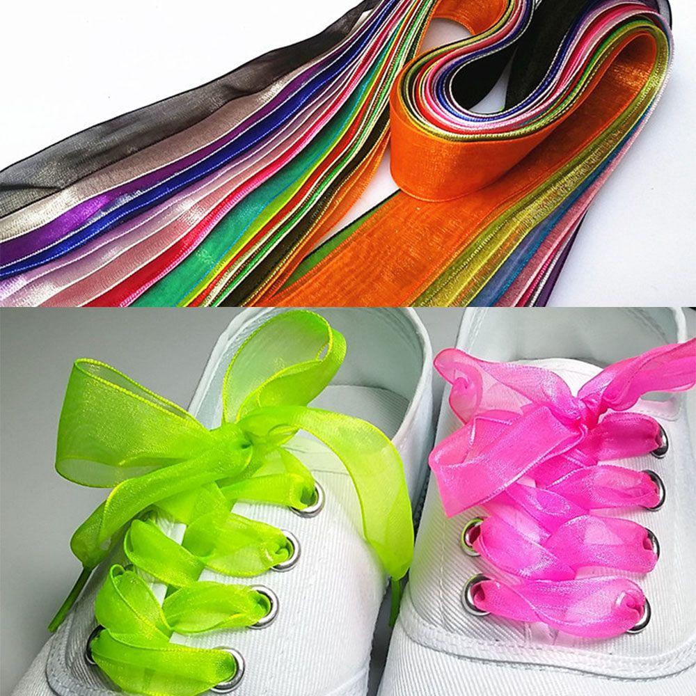 Unisex Men Womens Athletic Shoe Lace 3cm Wide Canvas Sneaker Shoelaces Soild ~