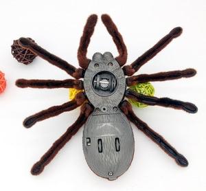 Розыгрыш игрушка Инфракрасный пульт дистанционного управления вспышка паук животное игрушка Электронные Домашние животные RC моделирован...