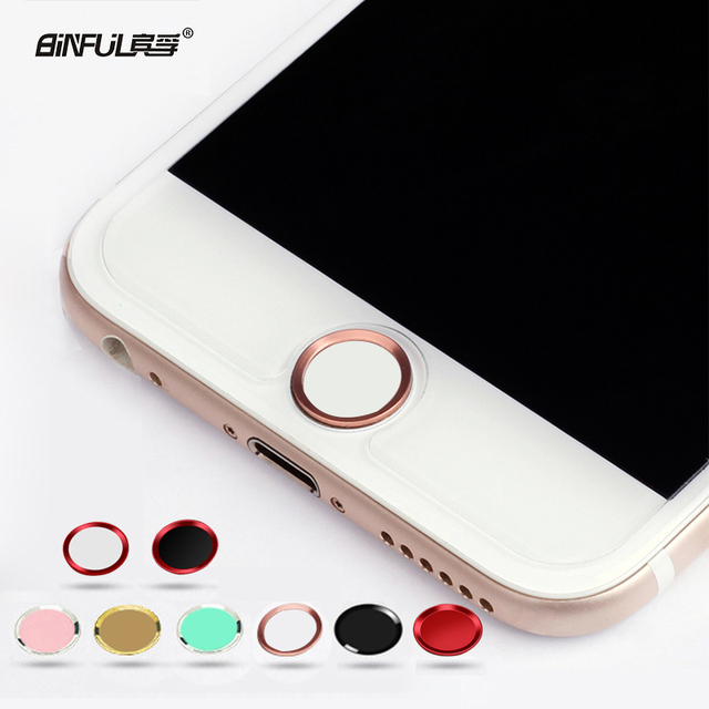 BINFUL Colorful Touch ID Home Button Sticker For iPhone 5 5S 6 7 8 plus 6s  6s plus Boto para pegatina Fingerprint Identification de9fb7e860