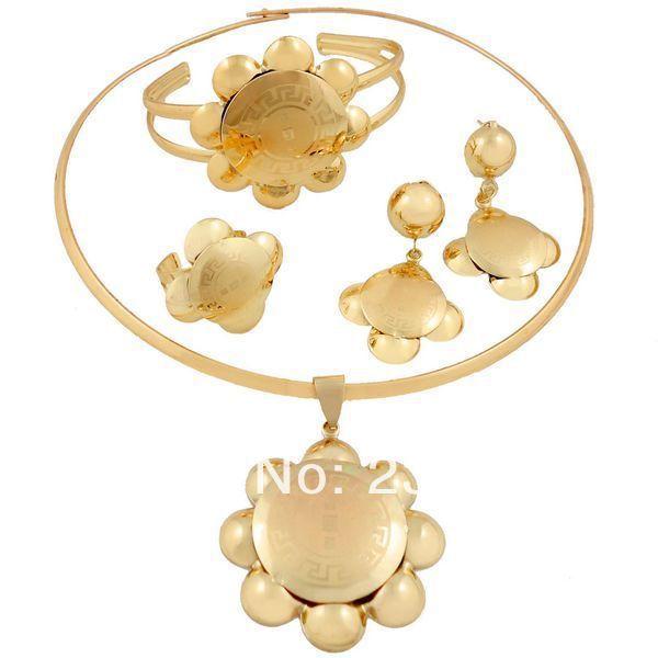 2014 24k gold plated jewelry set Pakistani bridal dubai gold