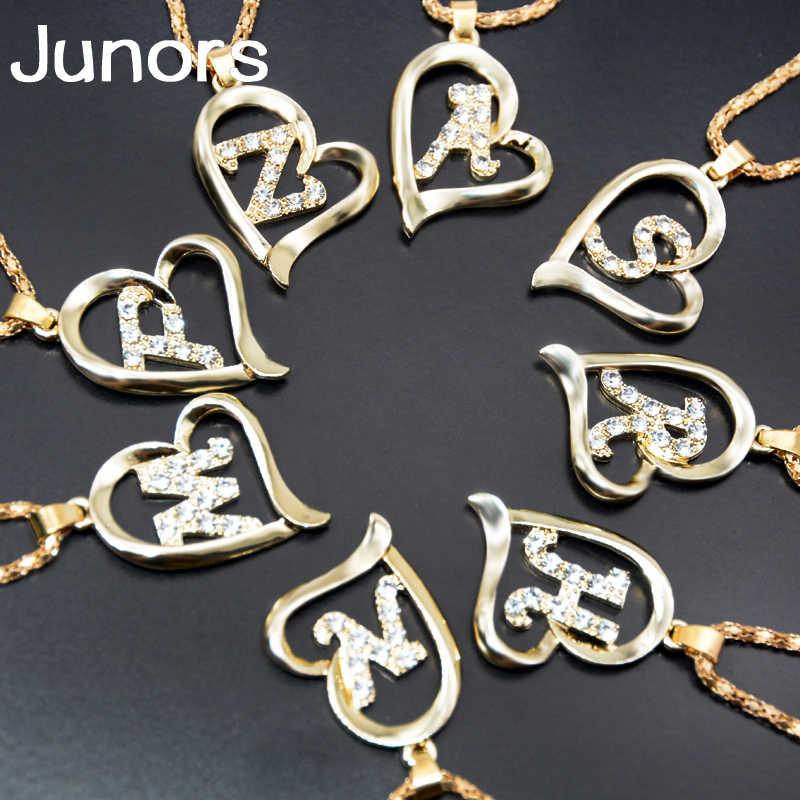 Iniciais de ouro Colar Letra amor do coração das mulheres Colar Declaração Para As Mulheres presentes da jóia da forma Do Alfabeto coisas estranhas