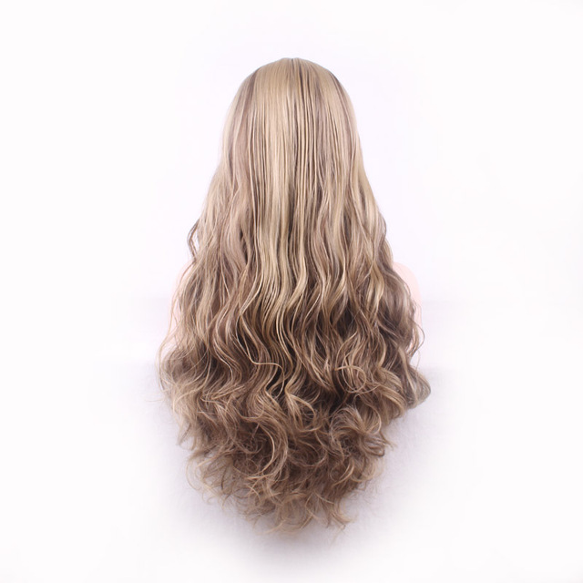 Lolita long curly blonde hair wig