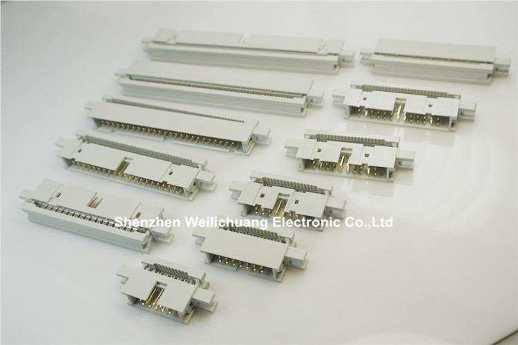 """Image 2 - 50 pcs 0.100"""" 2.54 mm IDC Box header PCB Male Headers 10 14 16 20 26 30 34 40 50 60 64 Pin Mounting Ears For 1.27mm Flat cableConnectors   -"""